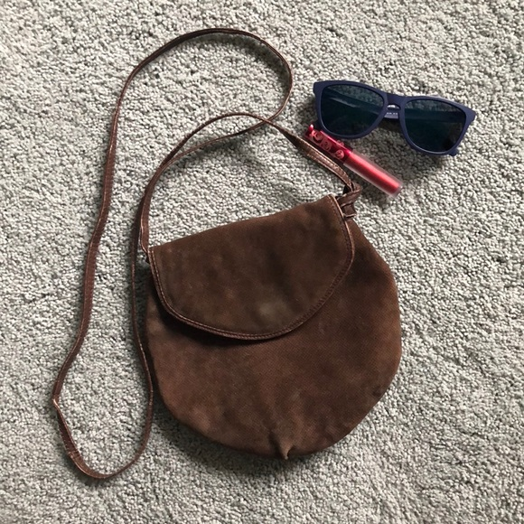 9f2880ff3a30 Bottega Veneta Handbags - BOTTEGA VENETA brown suede vintage crossbody 8.5x9